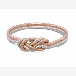 Bague climbing knot - or rose et or blanc