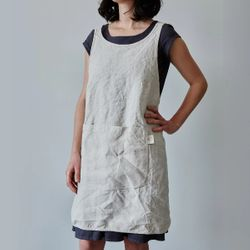 100% Linen Apron - Kitchen Apron