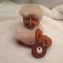 Baby And infant mocassins genuine sheepskin from Quebec canada