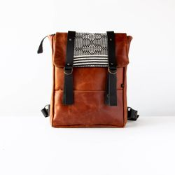 Cairo - Columbia - Leather & Fabric Backpack