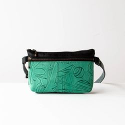 Glendale Waist Pouch - Green Shapes
