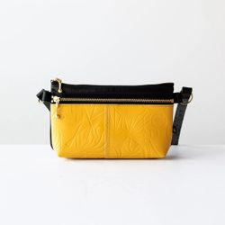 Glendale Waist Pouch - Yellow Leather