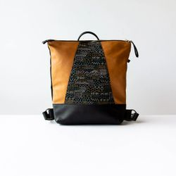 Hobart - Backpack / Crossbody Bag - Embroidery Fabric