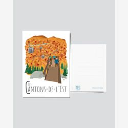 Quebec Postcard | Illustration Cantons-de-l'Est | Quebec Region | Quebec Illustration