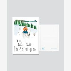 Quebec Postcard | Illustration Le Saguneay-Lac-Saint-Jean | Quebec Region | Illustration Quebec