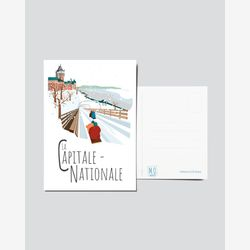 Quebec Postcard | Illustration National Capital | Quebec Region | Quebec Illustration
