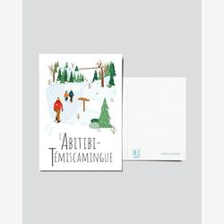 Quebec Postcard | Illustration Abitibi-Témiscamingue | Quebec Region | Illustration Quebec
