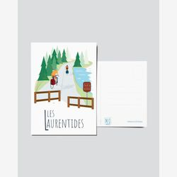 Quebec Postcard | Illustration The Laurentians | Quebec Region | Quebec illustration