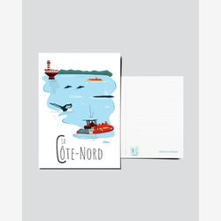Quebec Postcard | Illustration Côte-Nord | Quebec Region | Quebec illustration