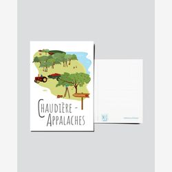 Quebec Postcard | Illustration Chaudière-Appalaches | Quebec Region | Quebec illustration