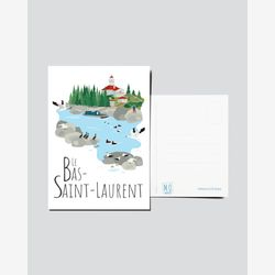 Quebec Postcard | Illustration Le Bas-Saint-Laurent | Quebec Region | Quebec illustration