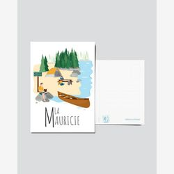 Quebec Postcard | Illustration La Mauricie | Quebec Region | Quebec illustration