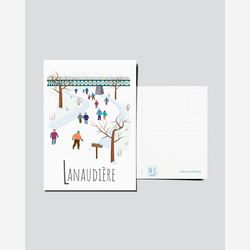 Quebec Postcard | Illustration Lanaudière | Quebec Region | Quebec illustration