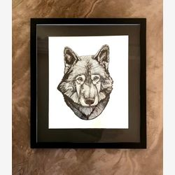 Wolf Like Me Original Framed Drawing
