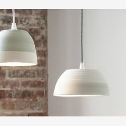 Large pendant light - Ceramic pendant lighting - Modern lighting - Minimalist lamp - Ceramic lamp - Concrete lamp