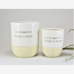 Coffee mug with sayings - Love quote - Coffee cup - Cute mug - Tea cup- Ceramic mug - Coffee mug yellow and white