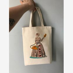 Jane Austen Tote bag,  Feminist tote bag,  Book bag , Gift for writer,  Cotton Small Tote bag,  Library tote bag, Montreal Handmade