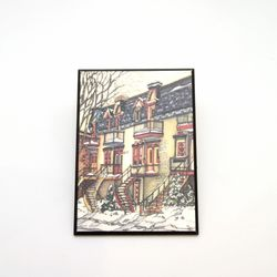 Snowy Montreal Magnet