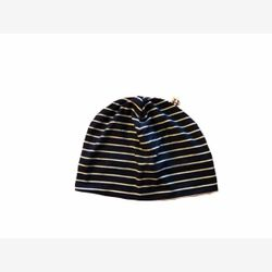 Hat Yo (longer) black striped white