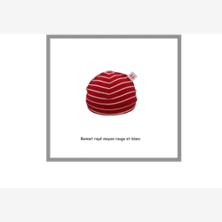 Medium row red and white bonnet (0501rm)