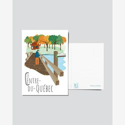 Quebec Postcard | Illustration Centre-du-Québec | Quebec Region | Quebec Illustration