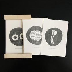 Oldies Sale // Set of 30 illustrations 5x7 in + Custom Wood Frame / Things I love about you (in FR only) - Riso Printed