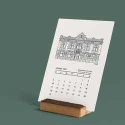 2021 Calendar - CASERNES MONTRÉALAISES - 12 months, 12 5x7 in. recycled cardboards