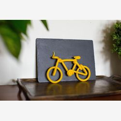 Beeswax bicycle birthday candle