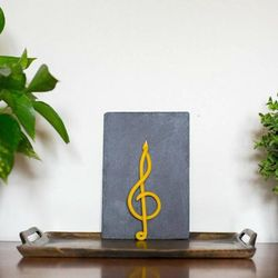 G-clef treble clef beeswax candle