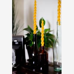 Pure beeswax taper candles