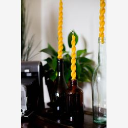 Beeswax taper candle - twisted beeswax candle - dinner candle - unity candle - valentine's day gift - hostess gift