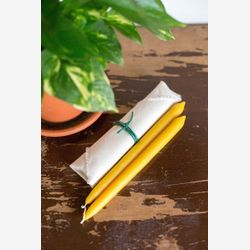 beeswax taper candles -