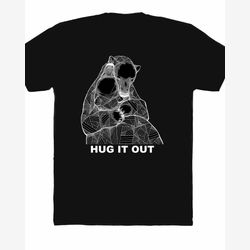 Hug It Out Polar Bear Black T-shirt