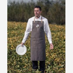 Apron Gift for men  Gift for husband  Leather Apron Ajustable Cooking apron Apron Sommelier Apron Funny apron  Bee illustration