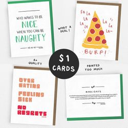 SALE! // HOLIDAY Set // 1 Dollar Card // 1 of each OR 5 of the same