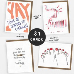 SALE! // BABY Set // 1 Dollar Card // 1 of each OR 5 of the same