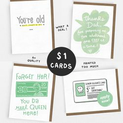 SALE! // PARENTS Set // 1 Dollar Card // 1 of each OR 5 of the same