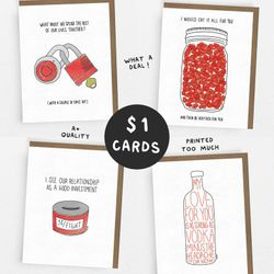SALE! // LOVE Set // 1 Dollar Card // 1 of each OR 5 of the same