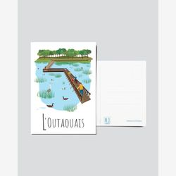 Quebec Postcard | Illustration Outaouais | Quebec Region | Quebec Illustration