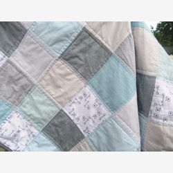 Quilt for baby shower - quilt for baby boy - baby shower gift - baby boy blanket - quilt for sale - custom quilt - modern quilt