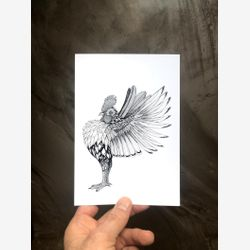 Monsieur Cocky 5x7 Rooster Print