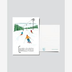 Quebec Postcard | Illustration Charlevoix | Quebec Region | Quebec illustration
