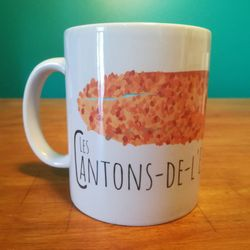 DEFAULT | Ceramic Mug | Mug | Quebec Mug | Illustration Les Cantons-de-l'Est | Quebec Region | Illustration Québec