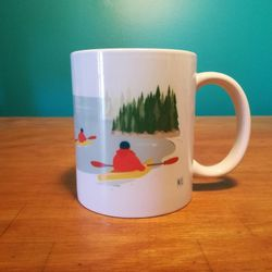DEFAULT | Ceramic Mug | Mug | Quebec Mug | Illustration La Côte-Nord | Quebec Region | Illustration Québec