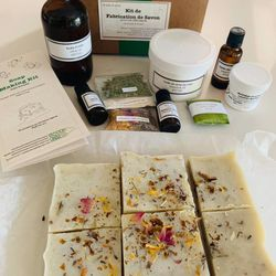 DIY soap making kit - cold process - craft kit - lavender soap - rosemary soap